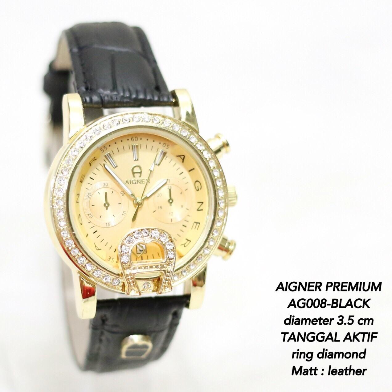Jam tangan AIGNER wanita fashion kulit leather grosir tanggal aktif