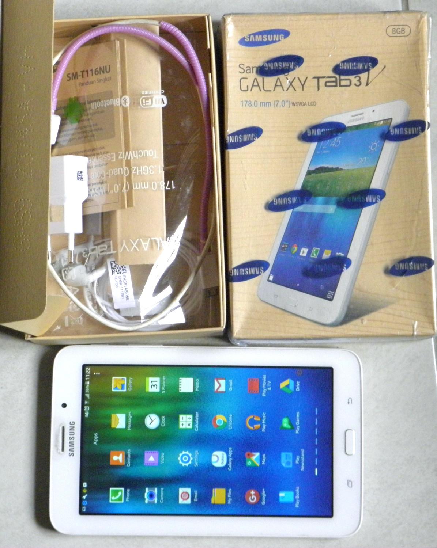 Samsung Galaxy Tab 3 V 70 Sm T116nu 8gb Hitam Review Harga Terbaru Inch Tablet Second Bekas Mulus Fullset