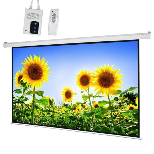 World Screen Projector Motorized 100 Inci Ratio 4 : 3