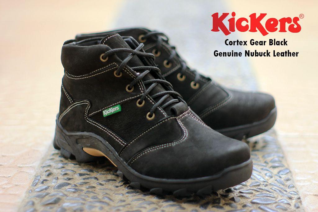 sepatu boot kickers cortex gear hitam