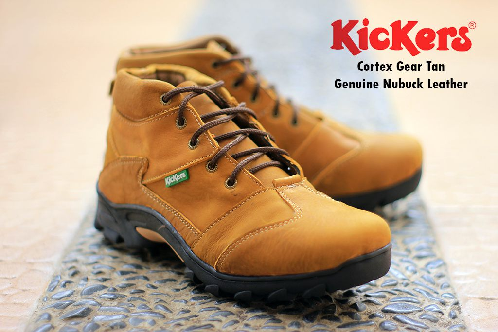 sepatu boot kickers cortex gear tan