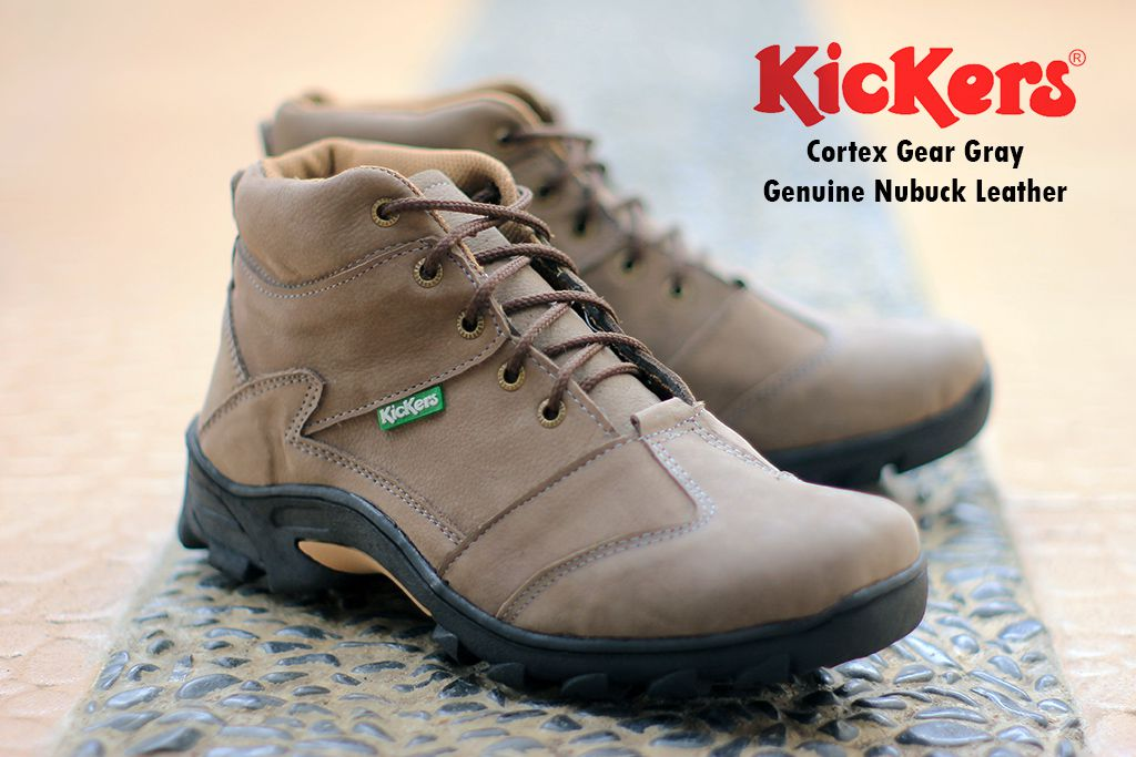 sepatu boot kickers cortex gear grey