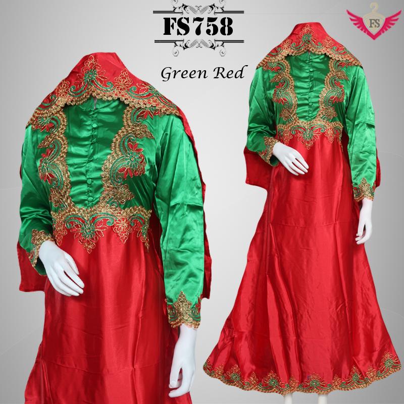 Jual Baju Gaun Gamis Pesta Pesta Satin Hijab Fikashop