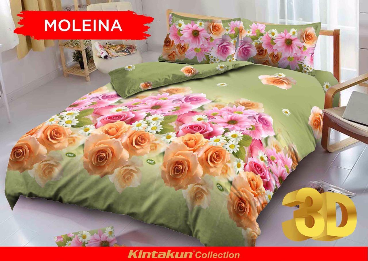 Kintakun Dluxe Sprei Queen Motif Moleina 160x200 Cm Daftar Harga 180 X 200 B2 King Barbie Pop Star Jual Bed Cover Set 3d 160