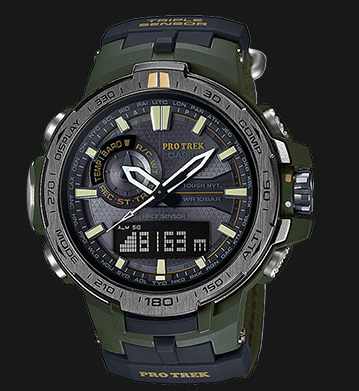 Casio Pro Trek PRW-6000SG-3DR Tough Solar 100M Resin Band With Extra N