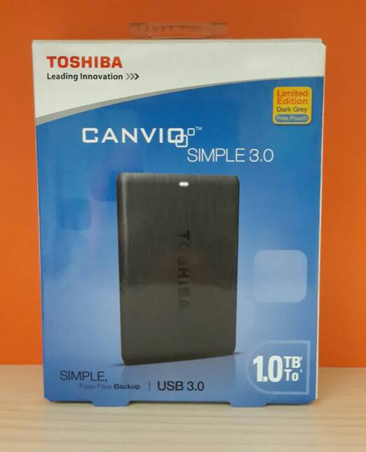 TOSHIBA CANVIO SIMPLE EXTERNAL HDD 1TB USB 3.0 / EXT HDD 1TB