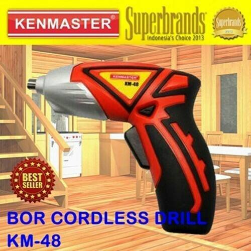 [#1] Mesin Alat Bor Tangan Tukang Tanpa Kabel Charger Drill Kenmaster