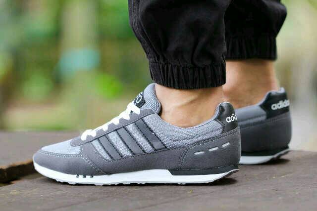 adidas neo racer men grey Murah