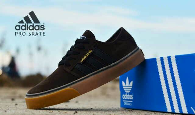 adidas skate men black gum Murah