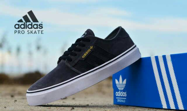adidas skate men dark grey Murah