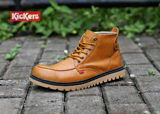 sepatu boot safety kickers axe tan Murah