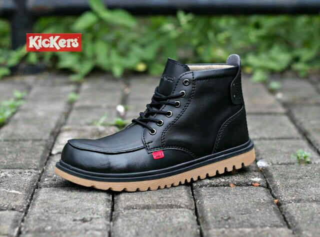 sepatu boot safety kickers axe black Murah