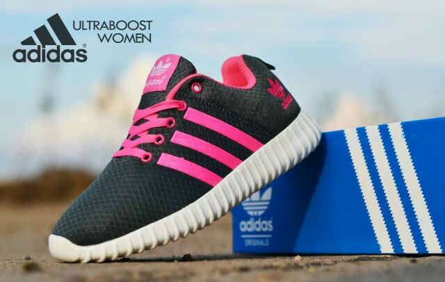 adidas ultra boost women grey pink Murah