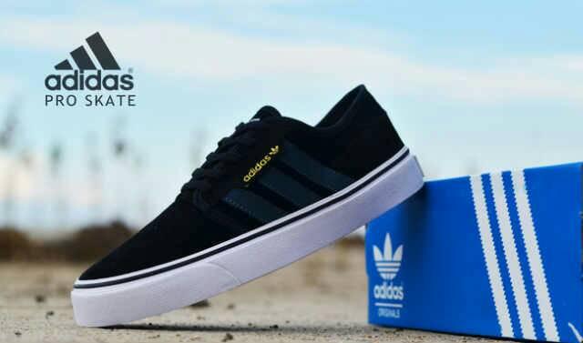 adidas skate men black Murah