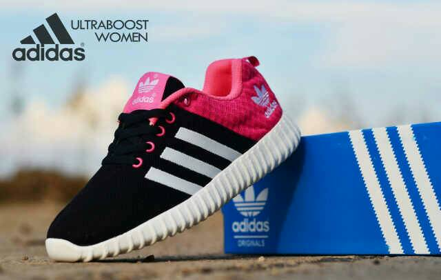 adidas ultra boost women black pink Murah