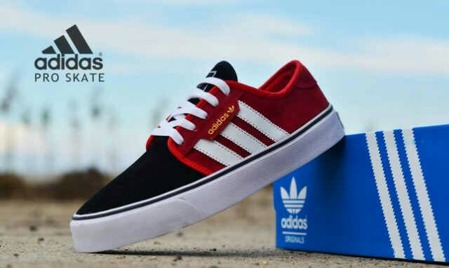 adidas skate men black red Murah