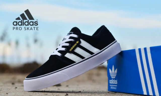 adidas skate men black white Murah