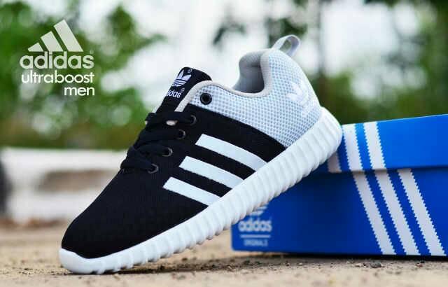 adidas ultra boost men black grey Murah
