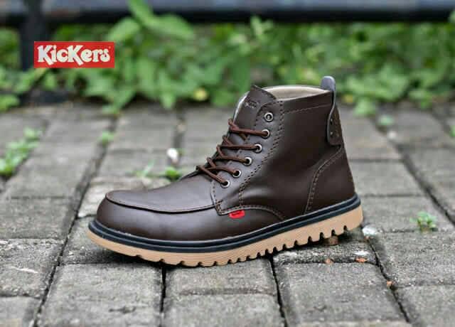 sepatu boot safety kickers axe brown Murah