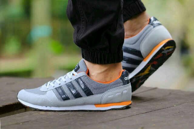 adidas neo racer men grey black Murah