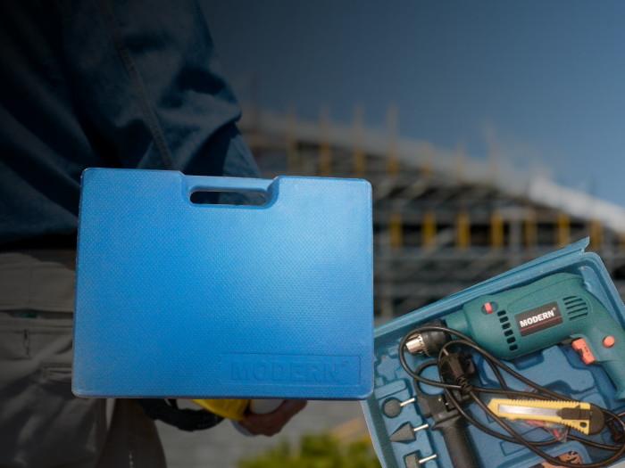 Mesin Bor / Impact Drill Set Merk Modern Gratis Mata Bor Dan Tools