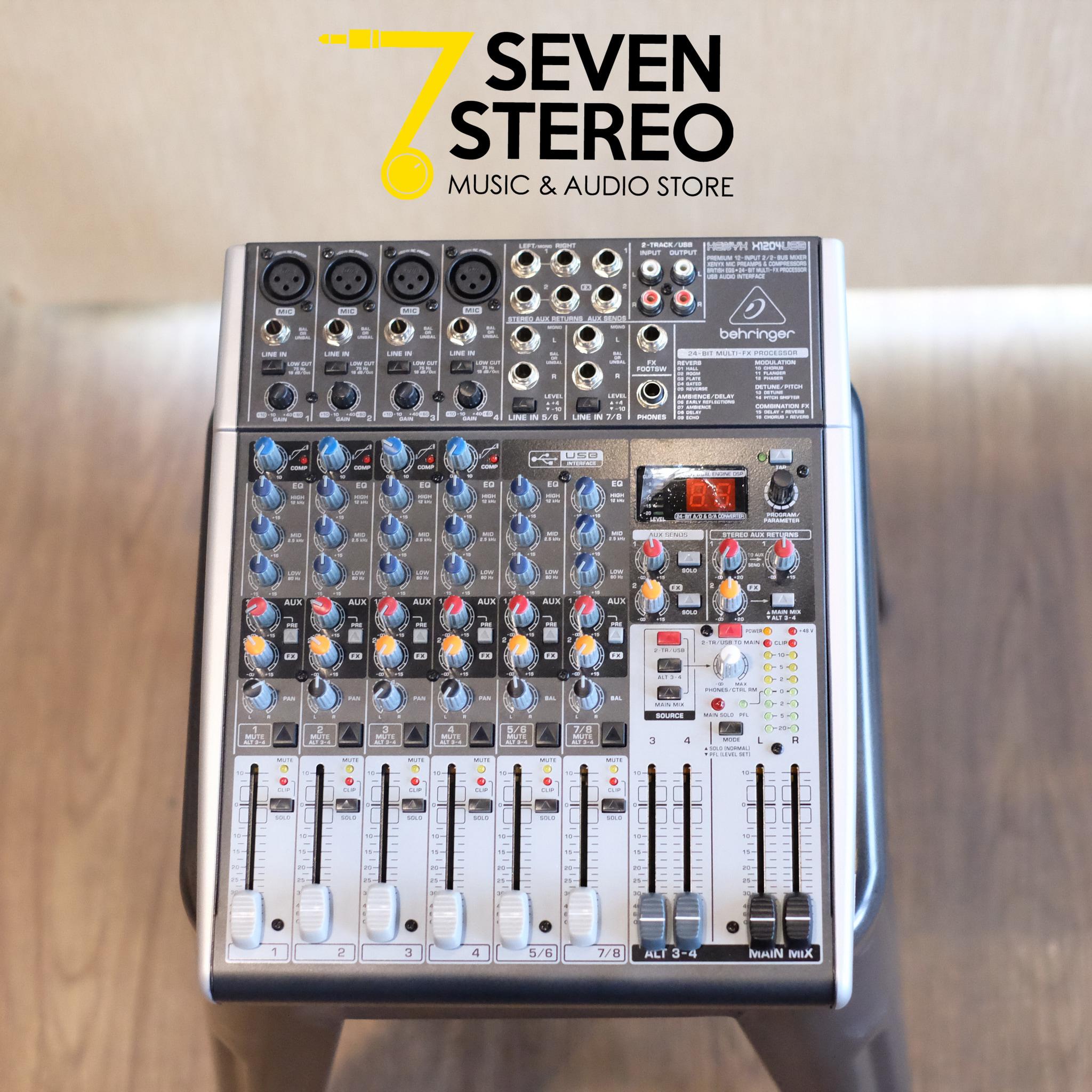harga Behringer X1204usb Mixer With Soundcard / Inteface [ X 1204 Usb ] Blanja.com