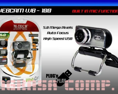Jual Beli WEBCAM / WEB CAM Mtech 5MP Baru | Webcam Kamera Video Mura