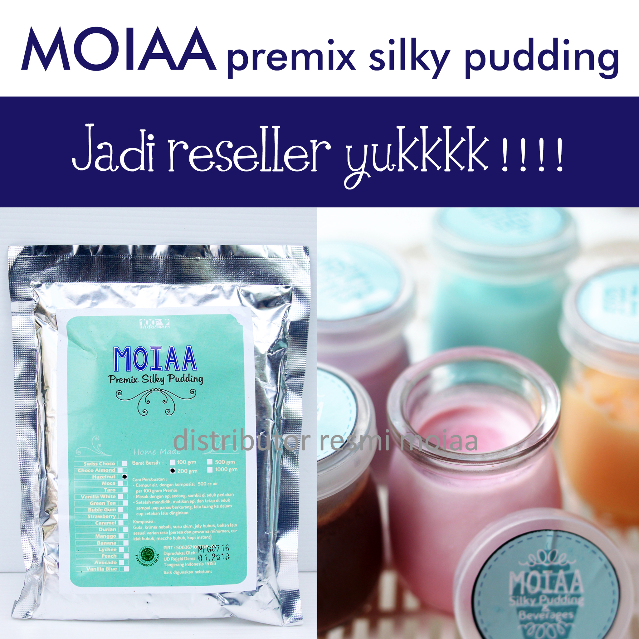Jual Puding Silky Moiaa Kemasan 100 Gram Islesta Shop Tokopedia Premix Pudding