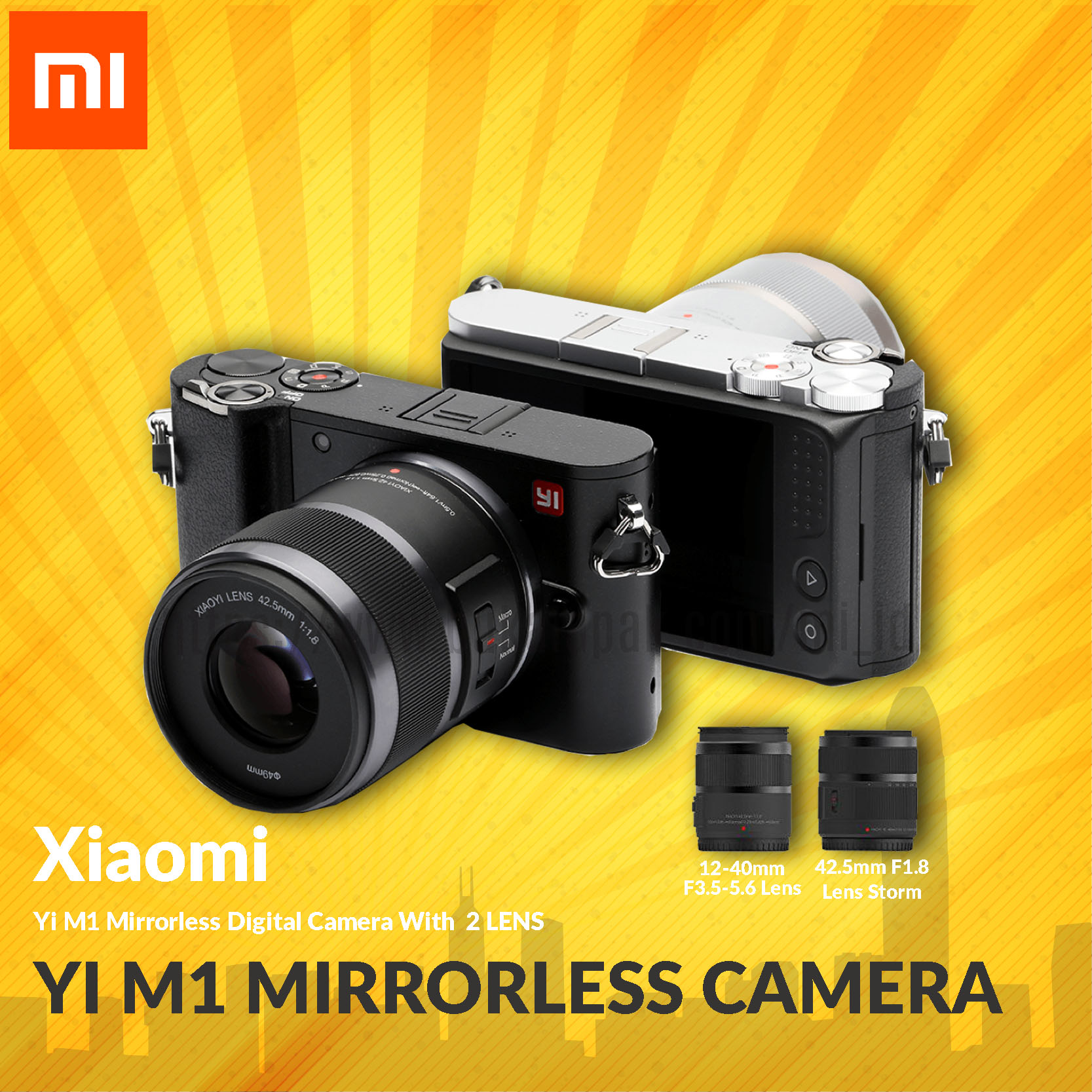 Yi M1 Mirrorless Digital Camera With 12 - 40mm F3.5 - 5.6 Lens And 42.5mm - Blanja.com