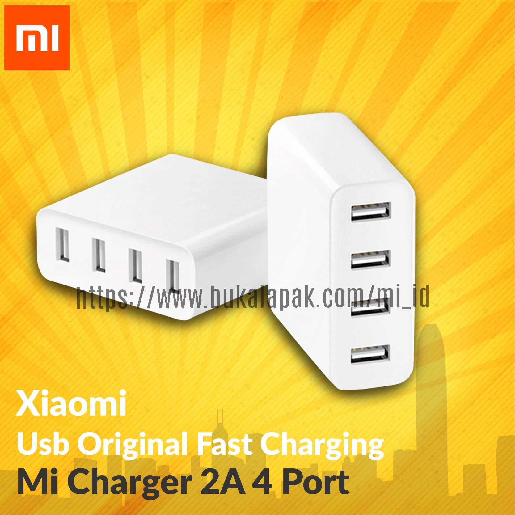 Original Xiaomi Mi Usb Fast Charging 2a 4 - Port - Garansi - Blanja.com