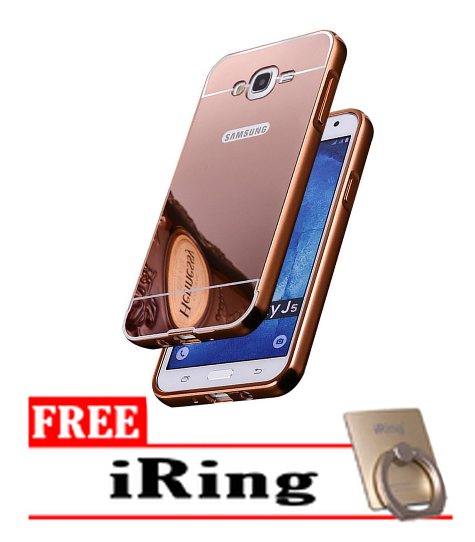 Jual Case Samsung galaxy J5 Slide Bumper Mirror - Rose Gold + Free Iring - GERINDRA | Tokopedia