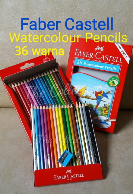 ATK0096FC Isi36warna Watercolour Pencil Faber Castell 114466 Cat Air