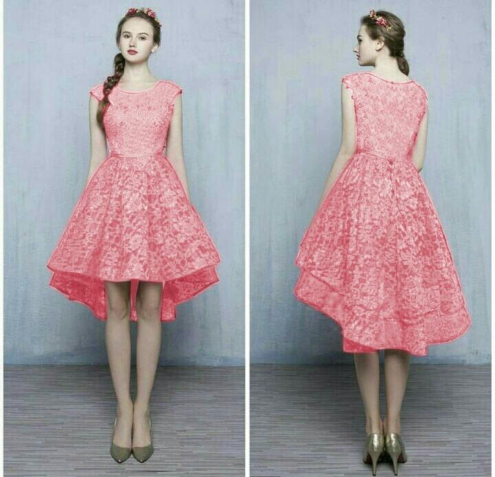 Model Gaun Dress Gaun Pesta Pendek Gamis Brokat