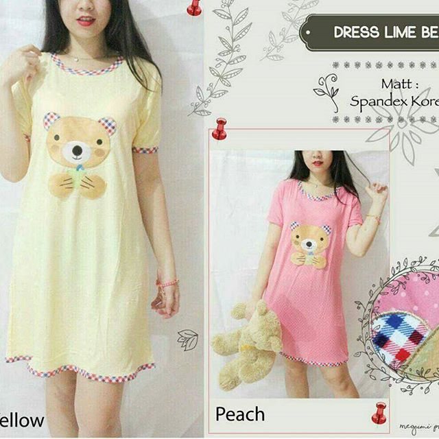 Ip23397 Dress Lime Bear