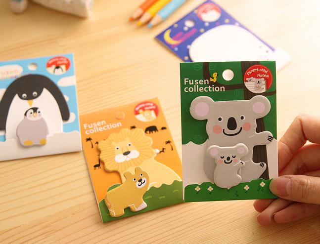 ATK0048 (20lembar) 2in1 Ibu Anak Memo Mini Parent Child Note Animal