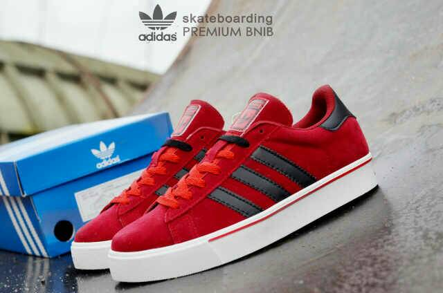 adidas skateboarding premium red black Murah