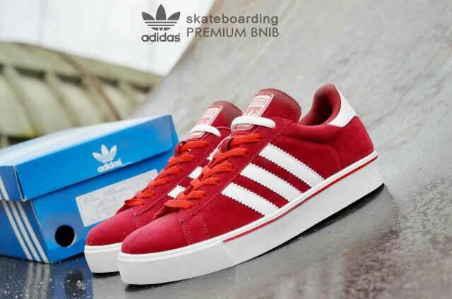 adidas skateboarding premium red white Murah