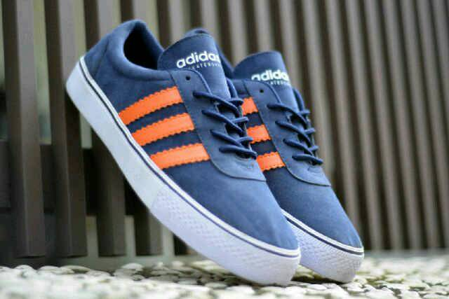 adidas adi ease skateboarding navy orange Murah