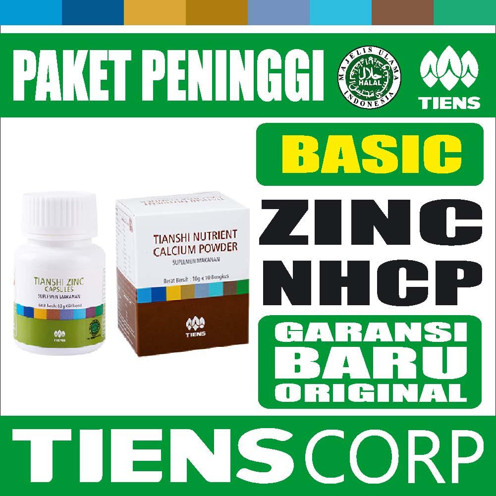 Jual Tiens Paket Peninggi Badan Basic Zinc Nhcp Kalsium Dewasa Original Tianshi Radeeta Store Tokopedia