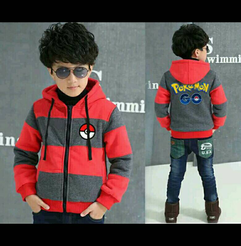 Jaket Anak Pokemon (4Warna)