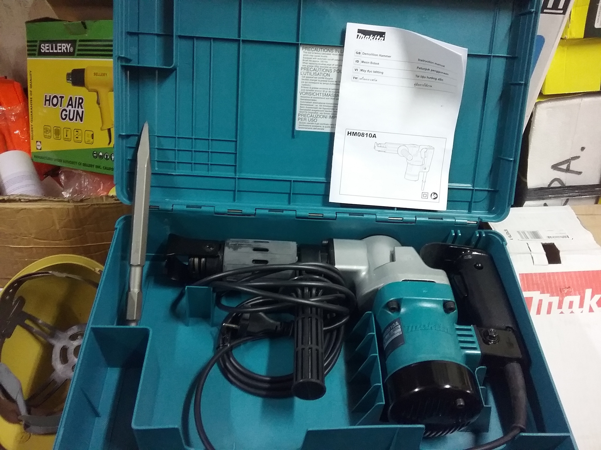 MESIN BOBOK BETON MAKITA HM0810 / DEMOLITION HAMMER MAKITA HM 0810