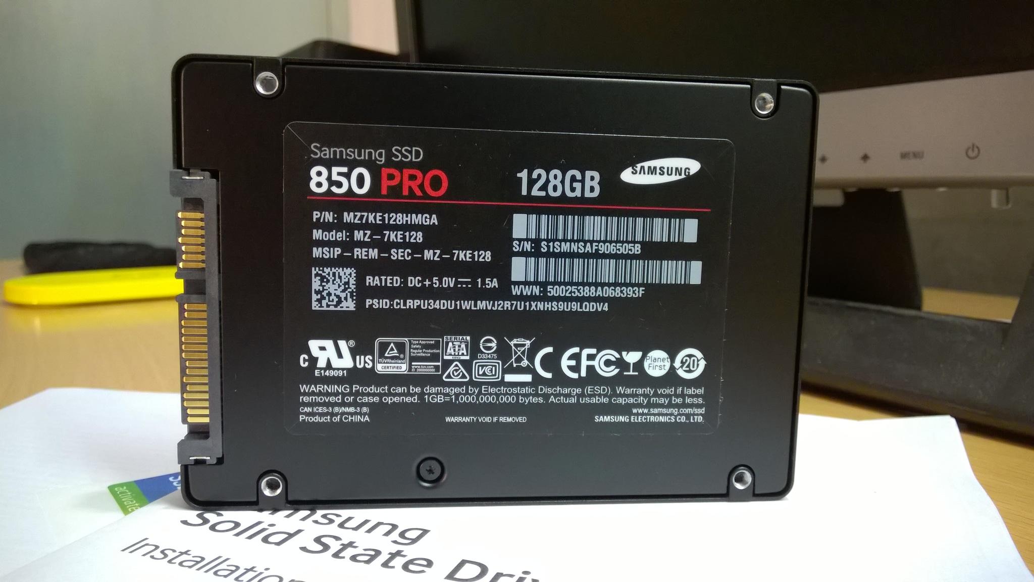 SSD SAMSUNG 2.5' 850 PRO 128GB