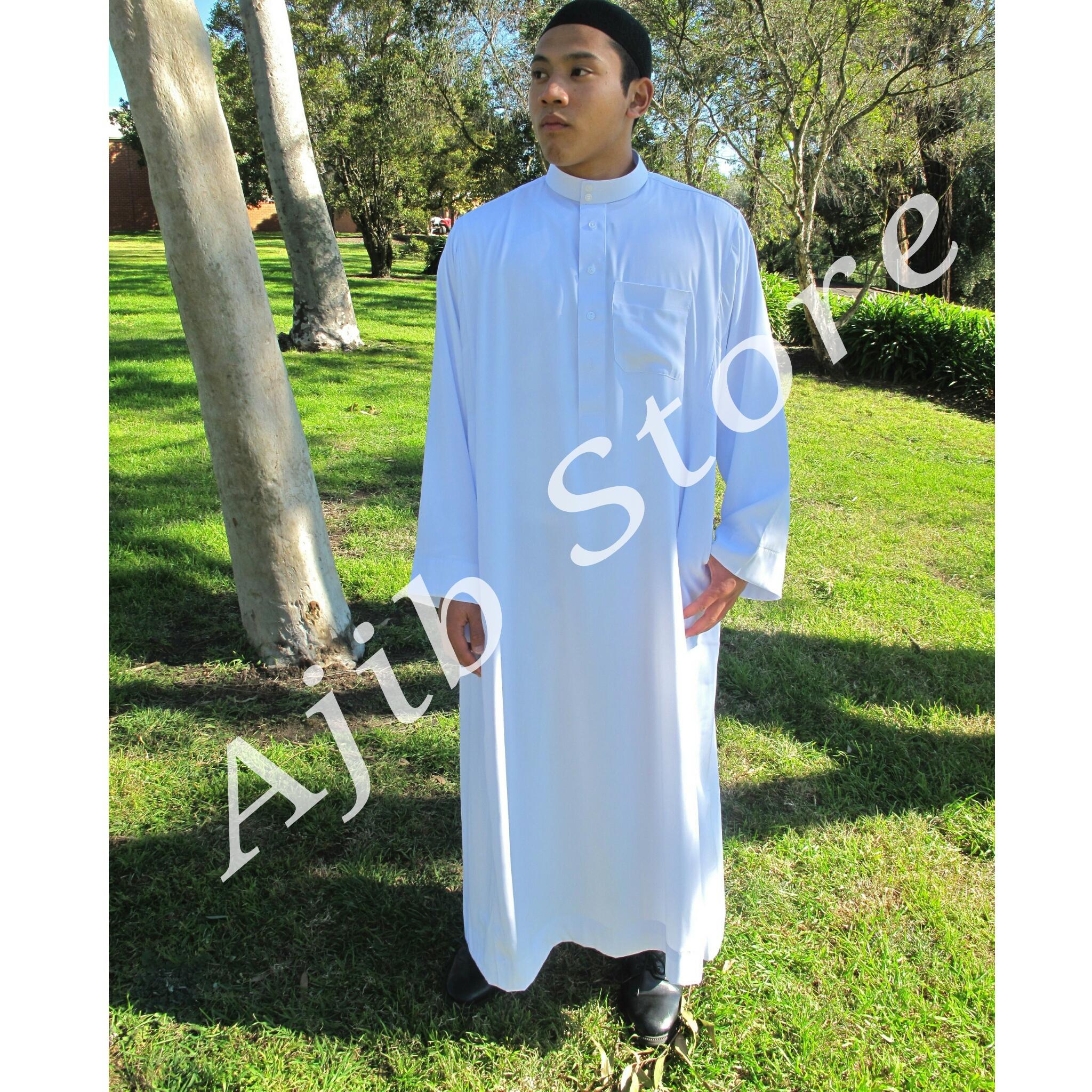 Jual Export Jubah Putih Mizan Baju Gamis Pria Thobe