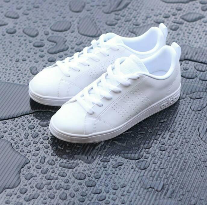 ... Adidas Neo Advantage Original Full white mono ... Sepatu .. ... eab76c28fe