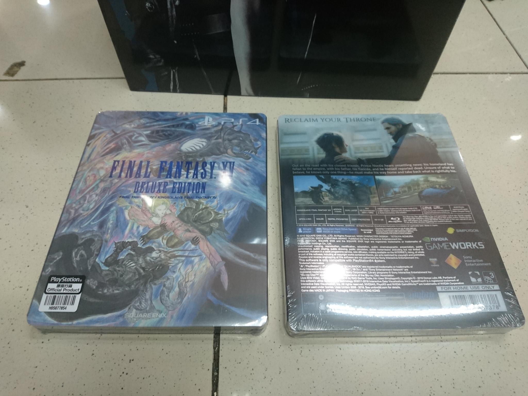 Jual Ps4 Final Fantasy Xv Ff 15 Deluxe Edition R3 Region 3 English Starlight Electronics Tokopedia