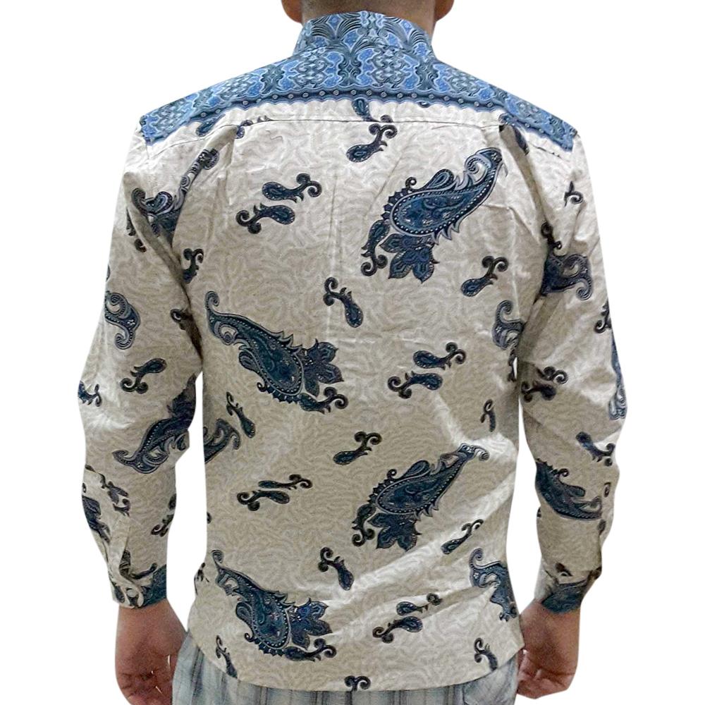 Batik Sultan Baju Kemeja Pria Lengan Panjang Bs 121 Hijau Pendek Hem Hks001 03 Biru Terbaru