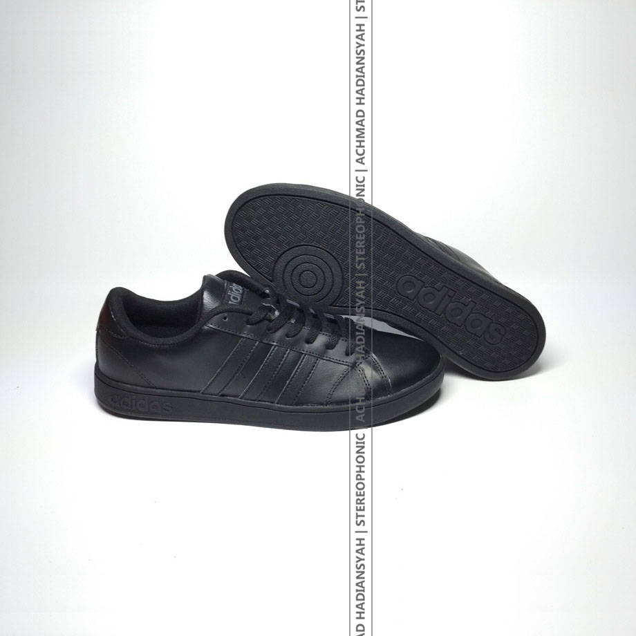 Jual Sepatu Adidas Original Neo Baseline Kerja Sekolah 100 Hitam Stereophonic Tokopedia
