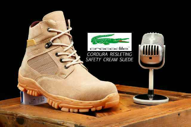 crocodile cordura cream resleting safety boot