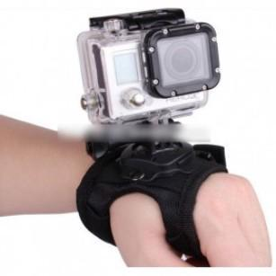 DISCOUNT Glove Style Velcro Wrist Band With Mount For Xiaomi Yi And Go