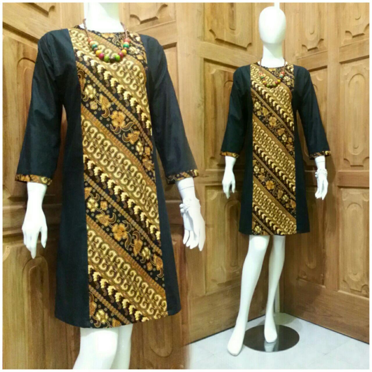 Baju Batik Wanita Ukuran Jumbo: Jual Batik Wanita/ Tunik Sogan/ Baju Batik Kantor/ Batik